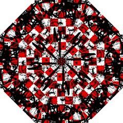 Emo Checker Graffiti Straight Umbrellas
