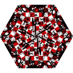 Emo Checker Graffiti Mini Folding Umbrellas