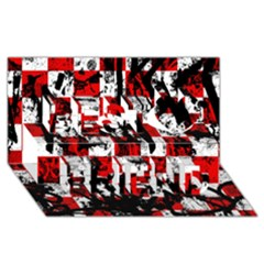 Emo Checker Graffiti Best Friends 3d Greeting Card (8x4)