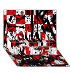 Emo Checker Graffiti You Are Invited 3d Greeting Card (7x5)
