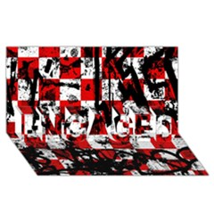 Emo Checker Graffiti ENGAGED 3D Greeting Card (8x4)