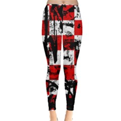 Emo Checker Graffiti Women s Leggings