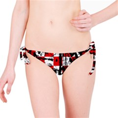 Emo Checker Graffiti Bikini Bottoms