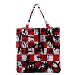 Emo Checker Graffiti Grocery Tote Bags