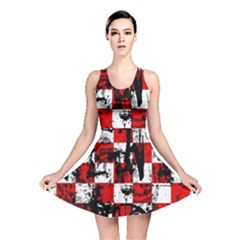 Emo Checker Graffiti Reversible Skater Dresses