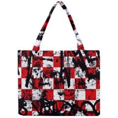 Emo Checker Graffiti Tiny Tote Bags