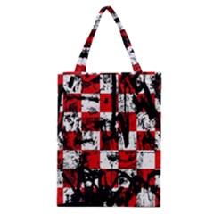 Emo Checker Graffiti Classic Tote Bags