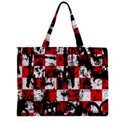 Emo Checker Graffiti Zipper Tiny Tote Bags