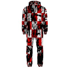 Emo Checker Graffiti Hooded Jumpsuit (men)