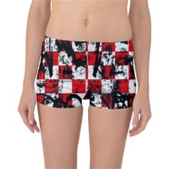 Emo Checker Graffiti Reversible Boyleg Bikini Bottoms