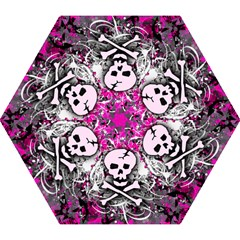 Pink Skull Splatter Mini Folding Umbrellas
