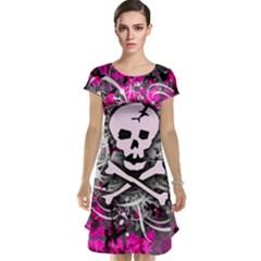 Pink Skull Splatter Cap Sleeve Nightdresses