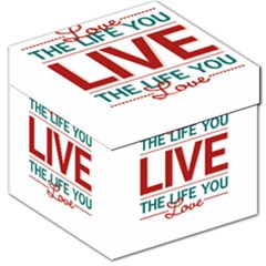 Love The Life You Live Storage Stool 12