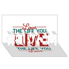 Love The Life You Live #1 MOM 3D Greeting Cards (8x4)