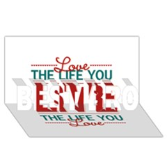 Love The Life You Live Best Bro 3d Greeting Card (8x4)