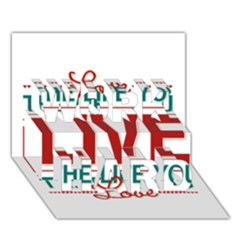 Love The Life You Live WORK HARD 3D Greeting Card (7x5)