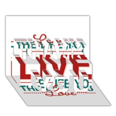 Love The Life You Live Thank You 3d Greeting Card (7x5)