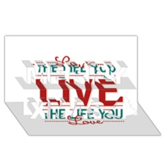 Love The Life You Live Merry Xmas 3D Greeting Card (8x4)