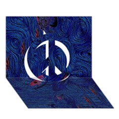 Blue Sphere Peace Sign 3D Greeting Card (7x5)