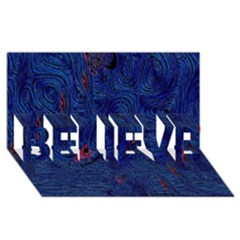 Blue Sphere Believe 3d Greeting Card (8x4)