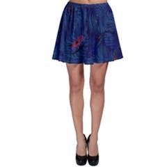 Blue Sphere Skater Skirts