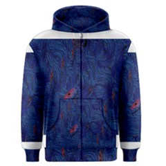 Blue Sphere Men s Zipper Hoodies