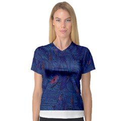 Blue Sphere Women s V Neck Sport Mesh Tee