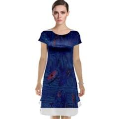 Blue Sphere Cap Sleeve Nightdresses