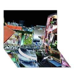 Colour Street Top Circle Bottom 3D Greeting Card (7x5)