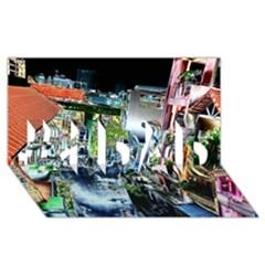 Colour Street Top #1 Dad 3d Greeting Card (8x4)