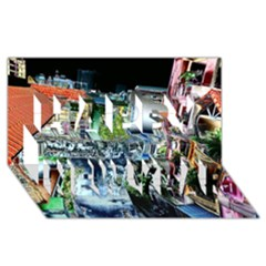 Colour Street Top Happy New Year 3D Greeting Card (8x4)