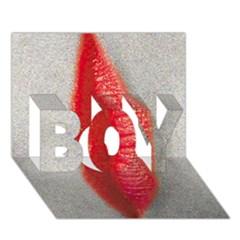 Lips Boy 3d Greeting Card (7x5)