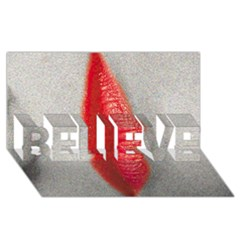 Lips BELIEVE 3D Greeting Card (8x4)