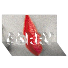 Lips SORRY 3D Greeting Card (8x4)