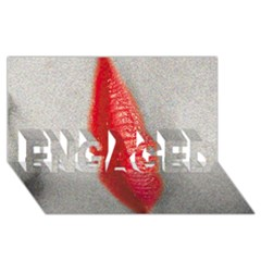 Lips Engaged 3d Greeting Card (8x4)