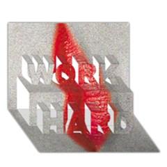 Lips Work Hard 3d Greeting Card (7x5)