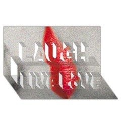 Lips Laugh Live Love 3D Greeting Card (8x4)