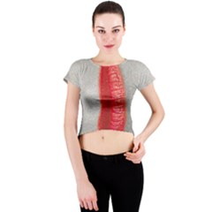 Lips Crew Neck Crop Top
