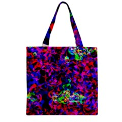 Electic Parasite Zipper Grocery Tote Bags