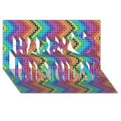 Aztec 3 Happy Birthday 3d Greeting Card (8x4)