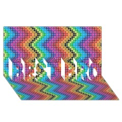 Aztec 3 Best Bro 3d Greeting Card (8x4)