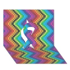 Aztec 3 Ribbon 3d Greeting Card (7x5)