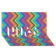 Aztec 3 HUGS 3D Greeting Card (8x4)