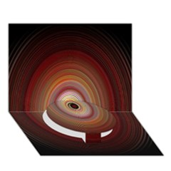 Colour Twirl Circle Bottom 3d Greeting Card (7x5)