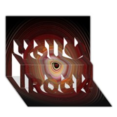 Colour Twirl You Rock 3D Greeting Card (7x5)