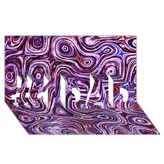 Colourtile #1 DAD 3D Greeting Card (8x4)