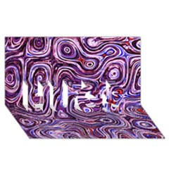 Colourtile Hugs 3d Greeting Card (8x4)