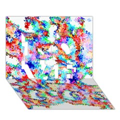 Soul Colour Light LOVE 3D Greeting Card (7x5)