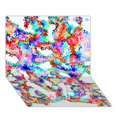Soul Colour Light Love Bottom 3d Greeting Card (7x5)