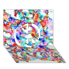 Soul Colour Light Peace Sign 3d Greeting Card (7x5)